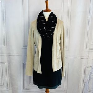 Eileen FISHER Beige Linen Cardigan Sweater Small